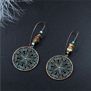 Jewelry - Round boho drop earrings